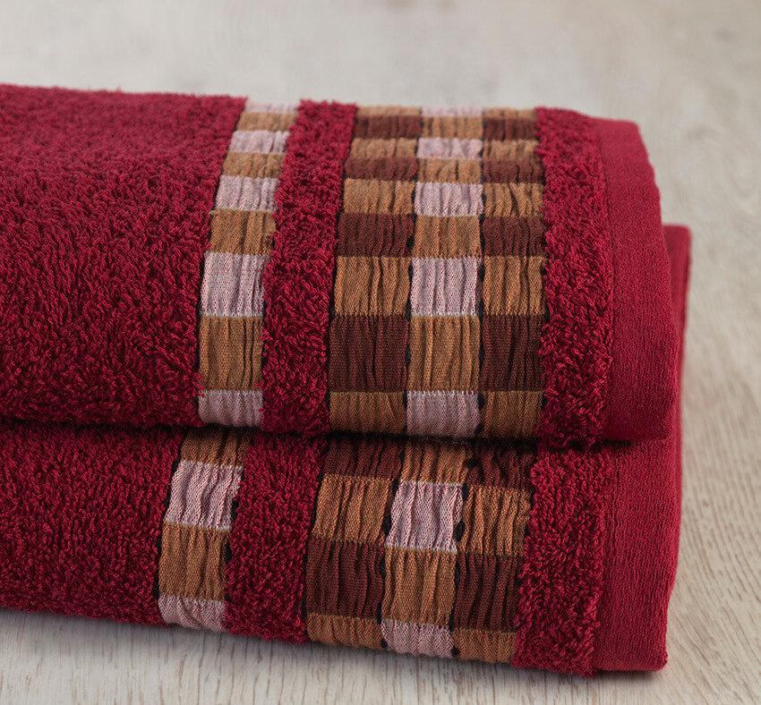 Полотенце Tentos Цвет: Бордовый (70х140 см)