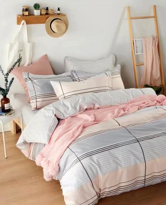 Купить Комплекты постельного белья Tango, Постельное белье Aidan (2 спал.), Китай, Голубой, Розовый, Хлопковый сатин