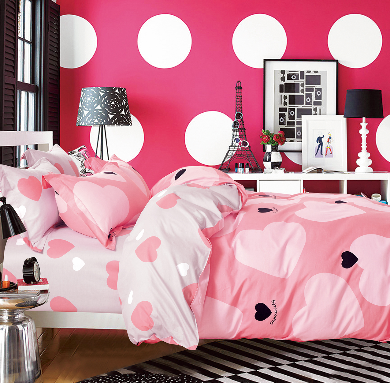 Купить Комплекты постельного белья Tango, Постельное белье Zoful (2 сп. евро), Китай, Розовый, Хлопковый сатин