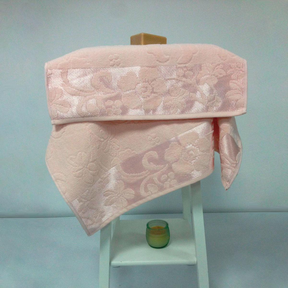 Купить Полотенца Arya, Полотенце Fleures Цвет: Персиковый (50х90 см, 70х140 см), Турция, Махра