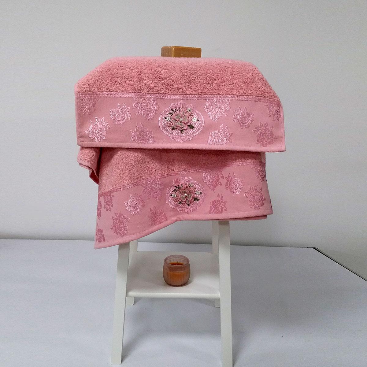 Полотенца Arya Полотенце Palona Цвет: Розовый (50х90 см,70х140 см) полотенца arya полотенце desima цвет розовый 50х90 см