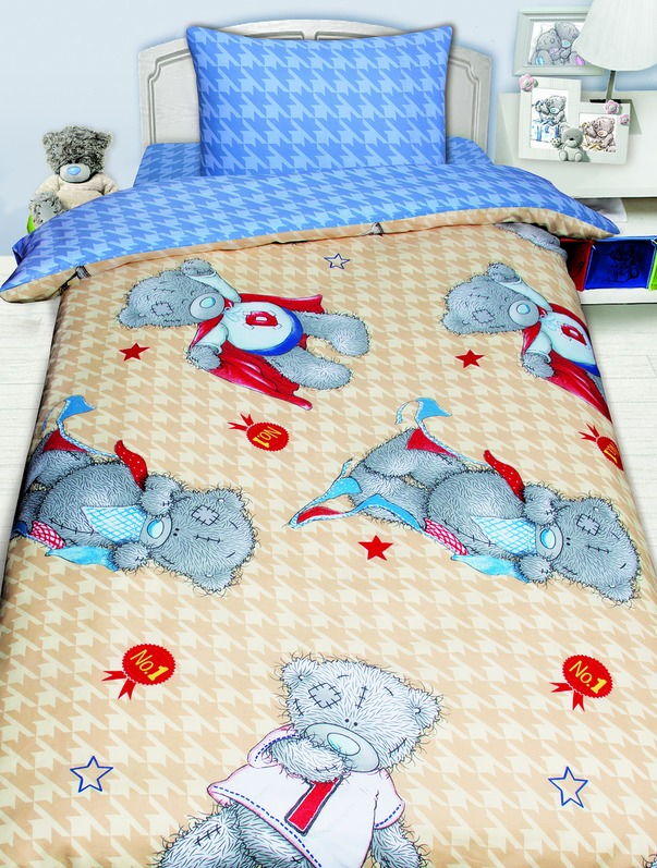детское постельное белье Mona Liza Детское Постельное белье Тэдди Цвет: Бежевый (145х210 см) цена