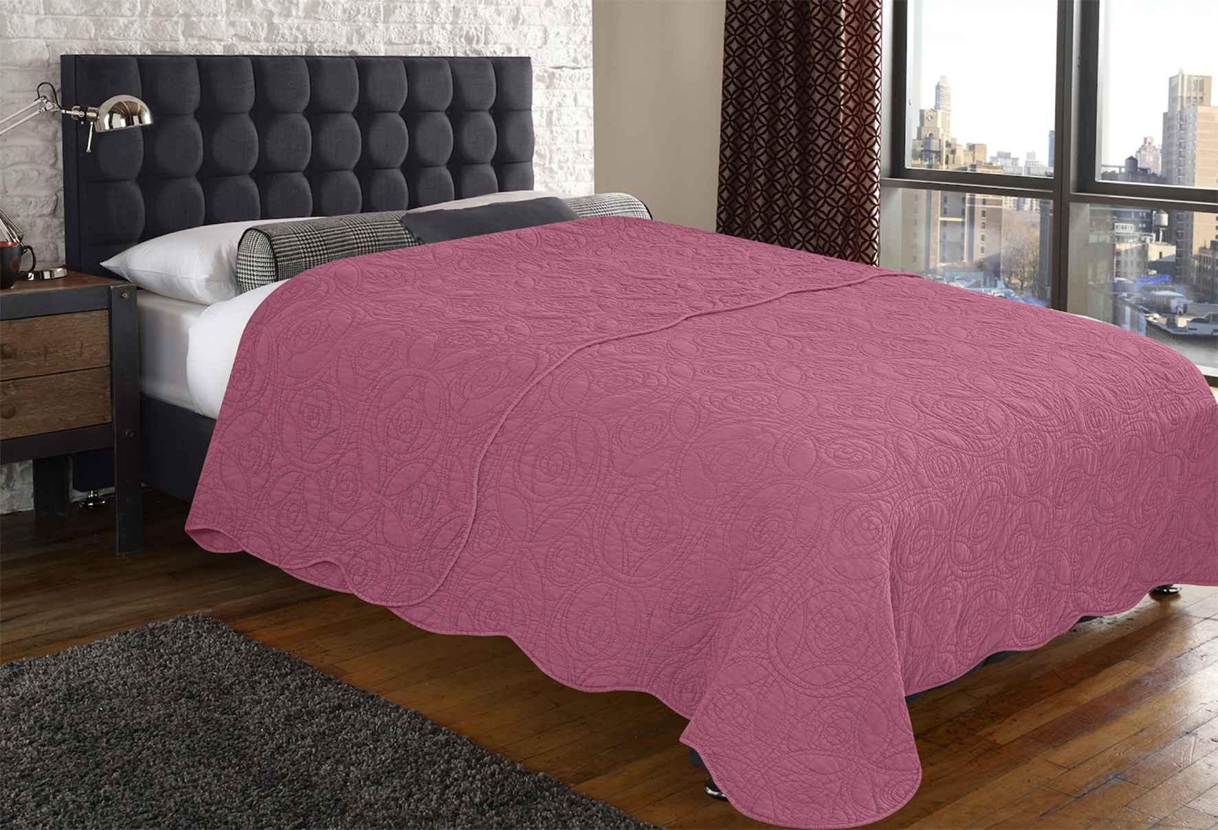 Купить Пледы и покрывала Amore Mio, Покрывало Bud Цвет: Розовый (160х220 см), Россия, Синтетический сатин