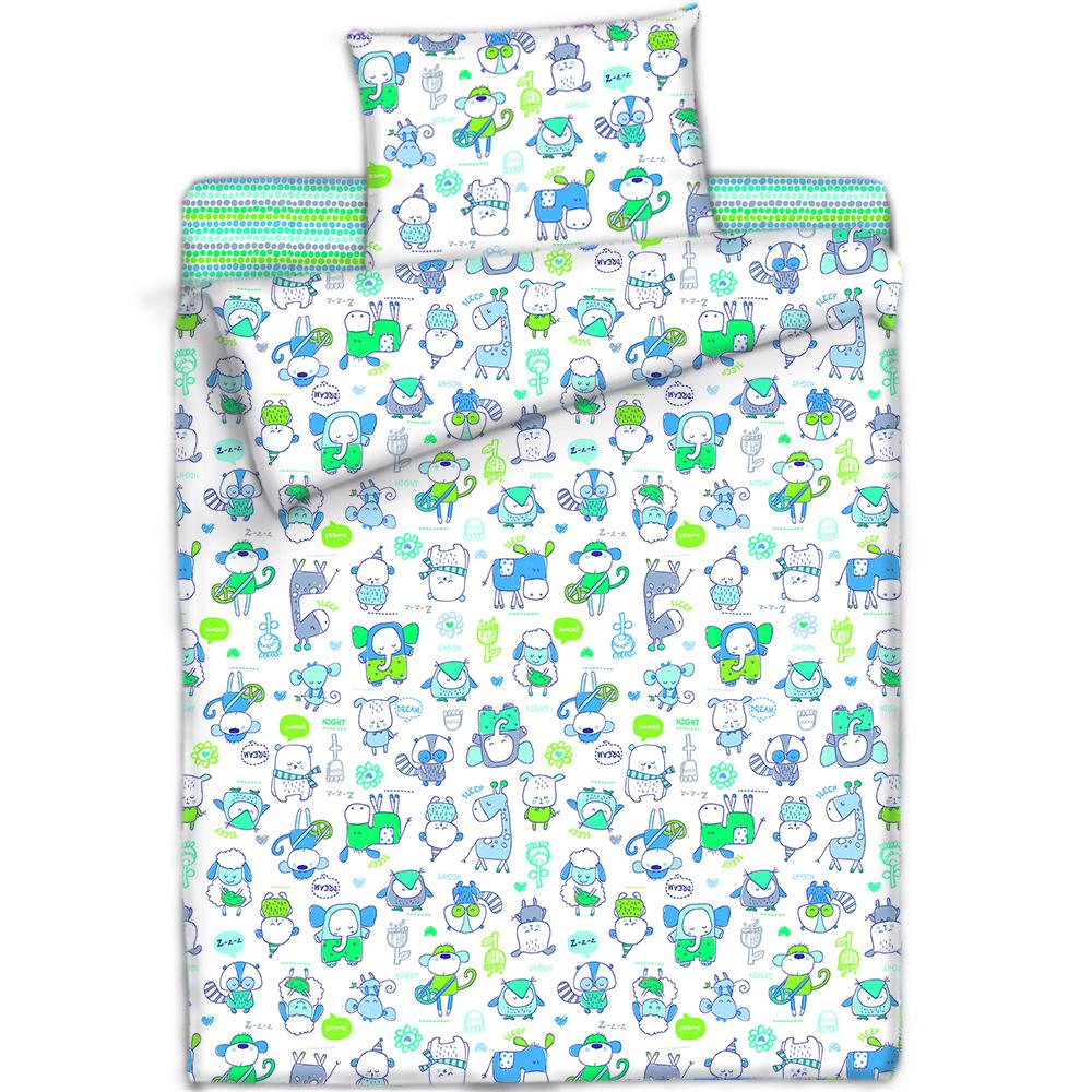 Купить Покрывала, подушки, одеяла для малышей Mona Liza, Детский плед Спящий Зоопарк Цвет: Голубой (150х200 см), Россия, Голубой, Зеленый, Синтетический флис