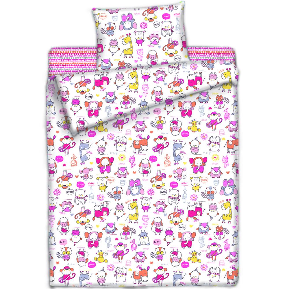Покрывала, подушки, одеяла для малышей Mona Liza Детский плед Спящий Зоопарк Цвет: Розовый (150х200 см) плед bella casa плед коралл цвет розовый 150х200 см