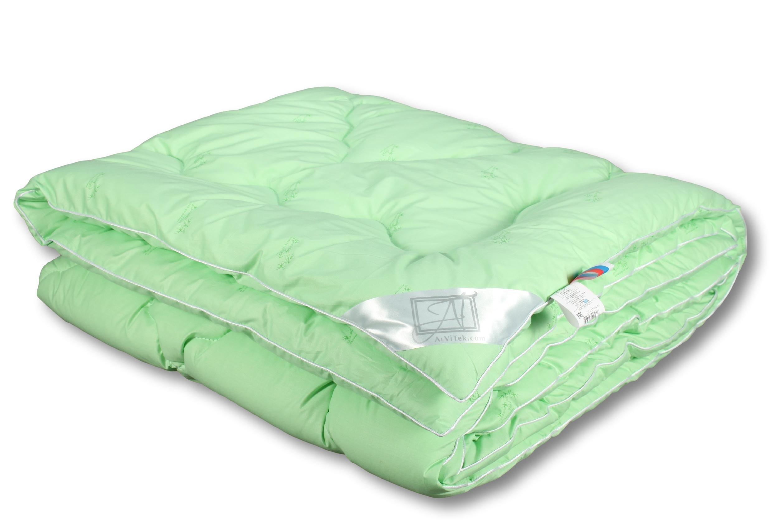 Купить Одеяла AlViTek, Одеяло Бамбук Всесезонное (210х240 см), Россия, Зеленый, Перкаль