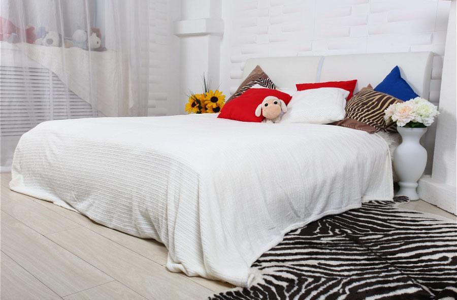 Пледы и покрывала HONGDA TEXTILE Плед Махровое Чудо Цвет: Белый (Тонкая Полоса) (150х200 см) плед kou yang textile bh 1 60