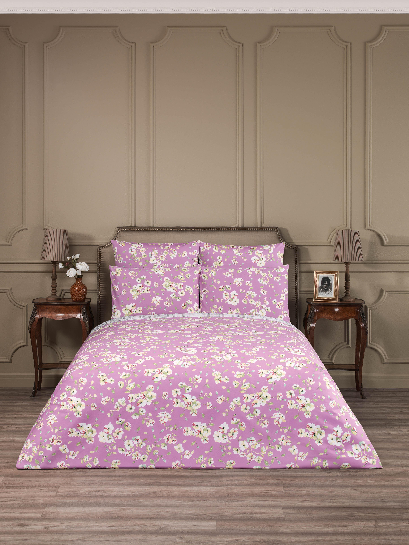 Купить Комплекты постельного белья ESTIA, Постельное белье Сакура (семейное), Греция, Розовый, Хлопковый сатин