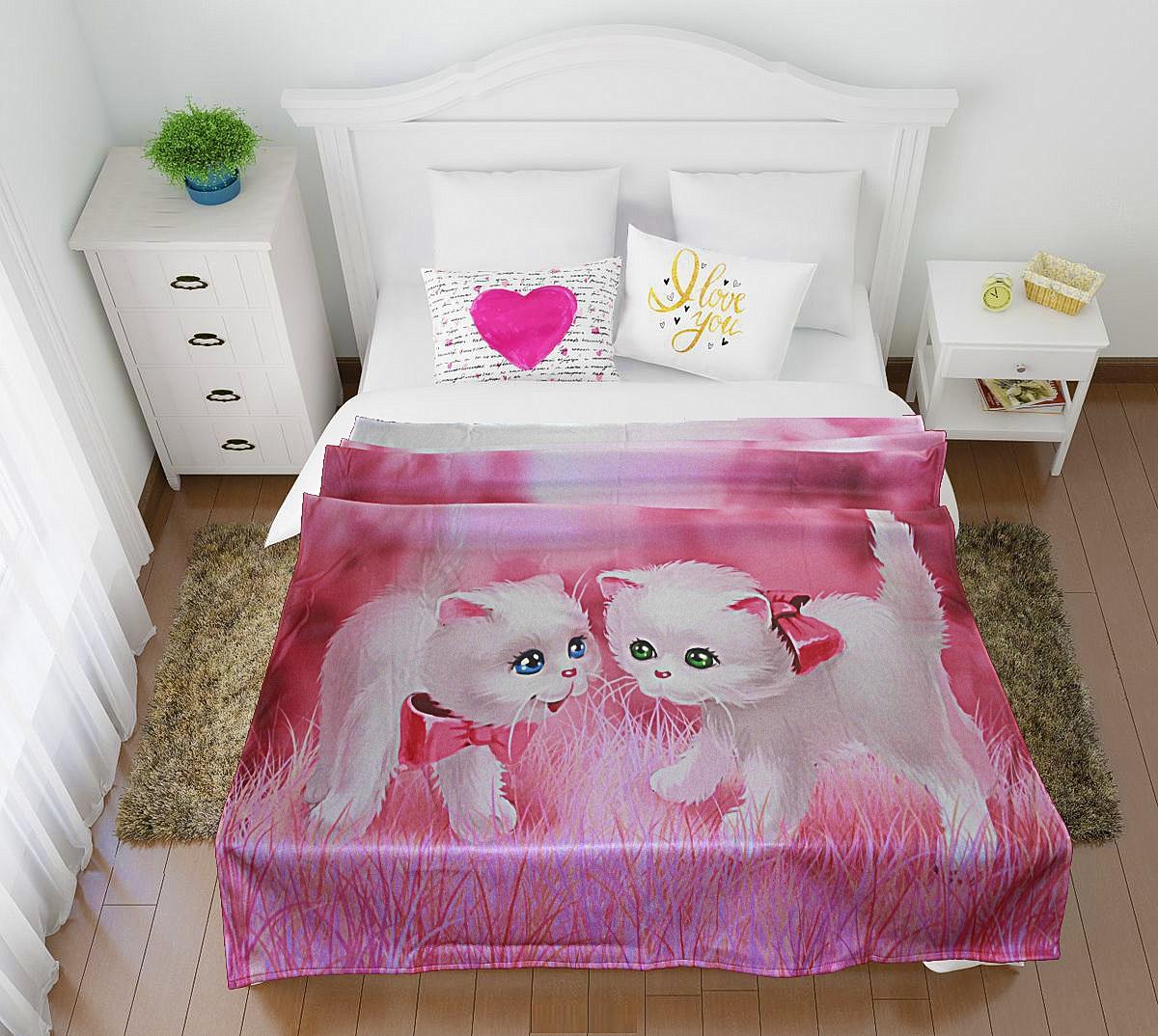 Купить Покрывала, подушки, одеяла для малышей Elegante, Детский плед Пушистики (150х200 см), Россия, Синтетический флис