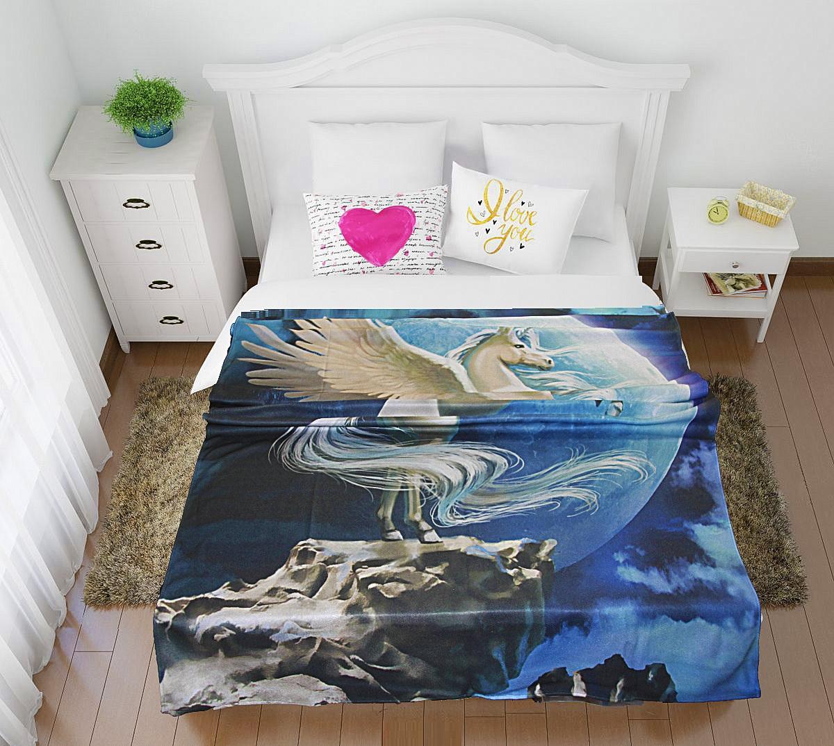 Купить Покрывала, подушки, одеяла для малышей Elegante, Детский плед Пегас (150х200 см), Россия, Синтетический флис