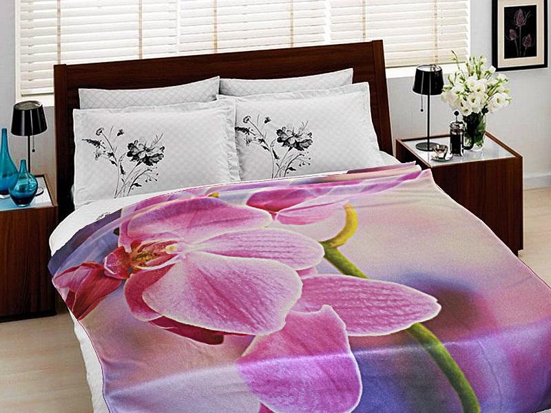 Купить Покрывала, подушки, одеяла для малышей Elegante, Детский плед Орхидея (150х200 см), Россия, Синтетический флис