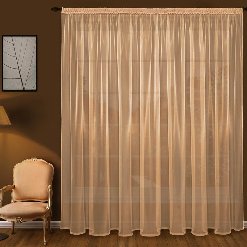 Купить Шторы Elegante, Классические шторы Дымка Цвет: Персиковый, Китай, Вуаль