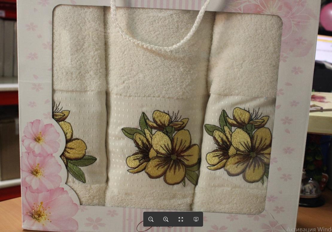 Полотенца Oran Merzuka Полотенце Sakura Цвет: Кремовый (Набор)