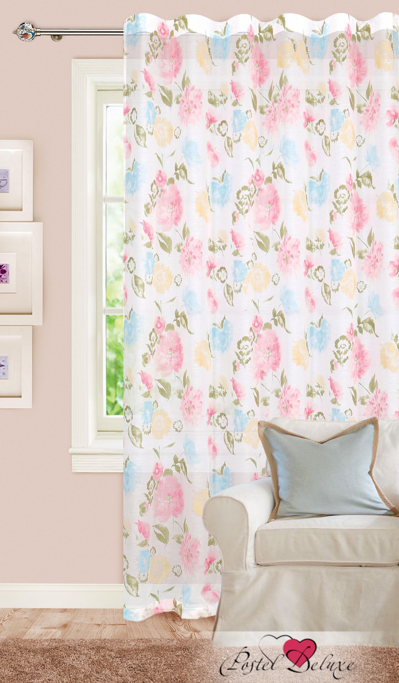 Купить Шторы Garden, Классические шторы Anabelle Цвет: Розовый, Голубой, Персиковый, Турция, Батист