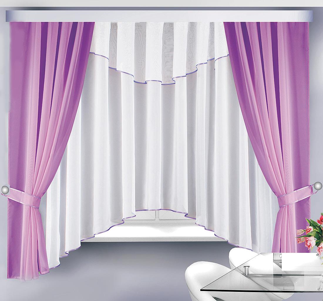 Купить Шторы Велес, Классические шторы Герда Цвет: Сиреневый, Беларусь, Вуаль