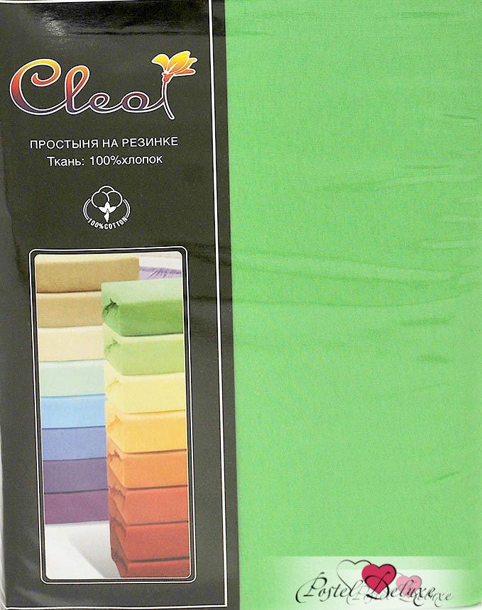 Купить Простыни Cleo, Простыня на резинке Melody Цвет: Зеленый (200х200), Китай, Хлопковый трикотаж