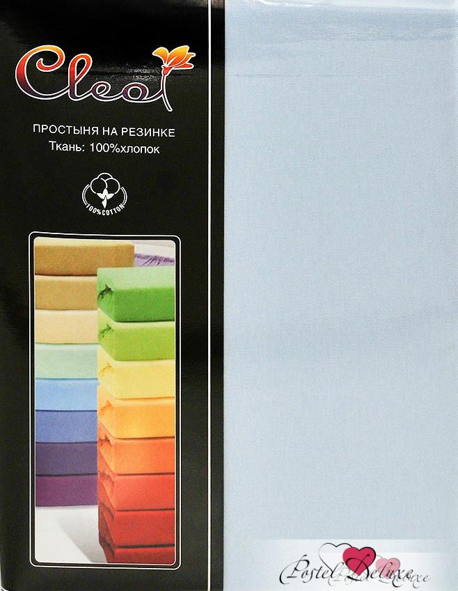 Купить Простыни Cleo, Простыня на резинке Melody Цвет: Голубой (160х200), Китай, Хлопковый трикотаж