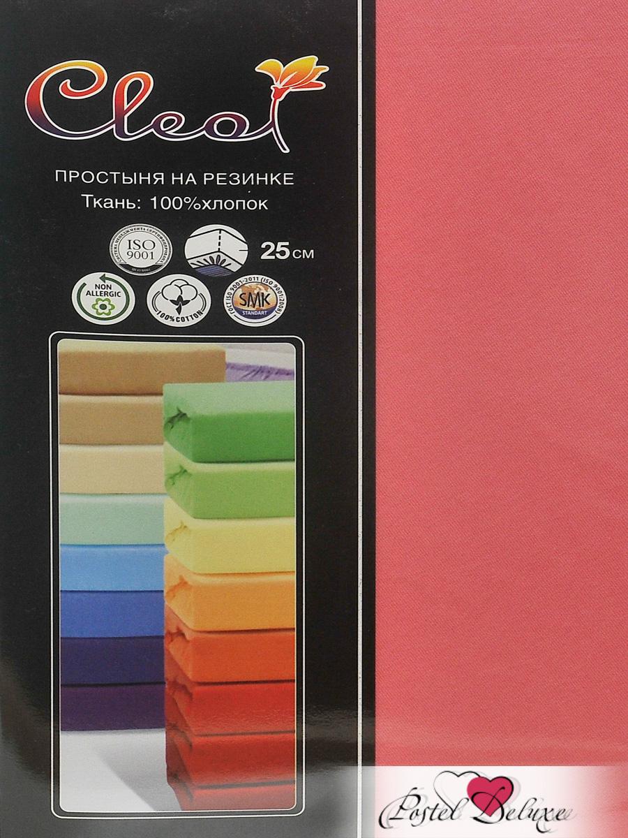 Купить Простыни Cleo, Простыня на резинке Melody Цвет: Коралловый (160х200), Китай, Красный, Хлопковый трикотаж
