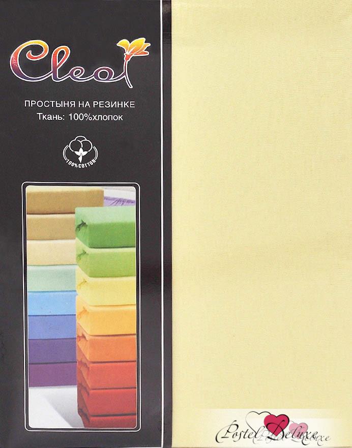 Купить Простыни Cleo, Простыня на резинке Melody Цвет: Светло-Желтый(160х200), Китай, Хлопковый трикотаж