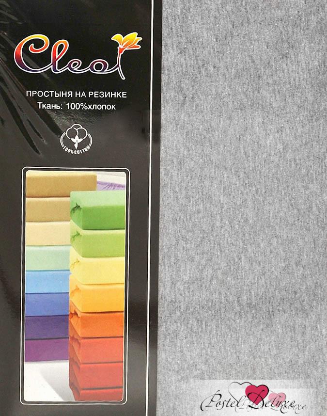 Купить Простыни Cleo, Простыня на резинке Melody Цвет: Меланж (200х200), Китай, Серый, Хлопковый трикотаж