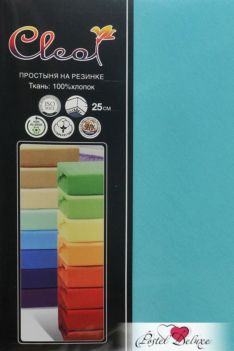 Купить Простыни Cleo, Простыня на резинке Melody Цвет: Бирюзовый (140х200), Китай, Голубой, Хлопковый трикотаж