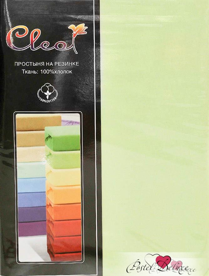 Купить Простыни Cleo, Простыня на резинке Melody Цвет: Салатовый (160х200), Китай, Зеленый, Хлопковый трикотаж