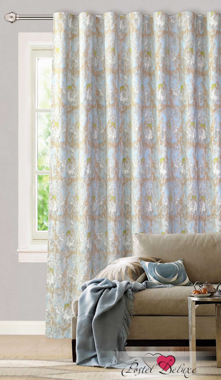 Купить Шторы Garden, Классические шторы Christian Цвет: Голубой, Турция, Жаккард