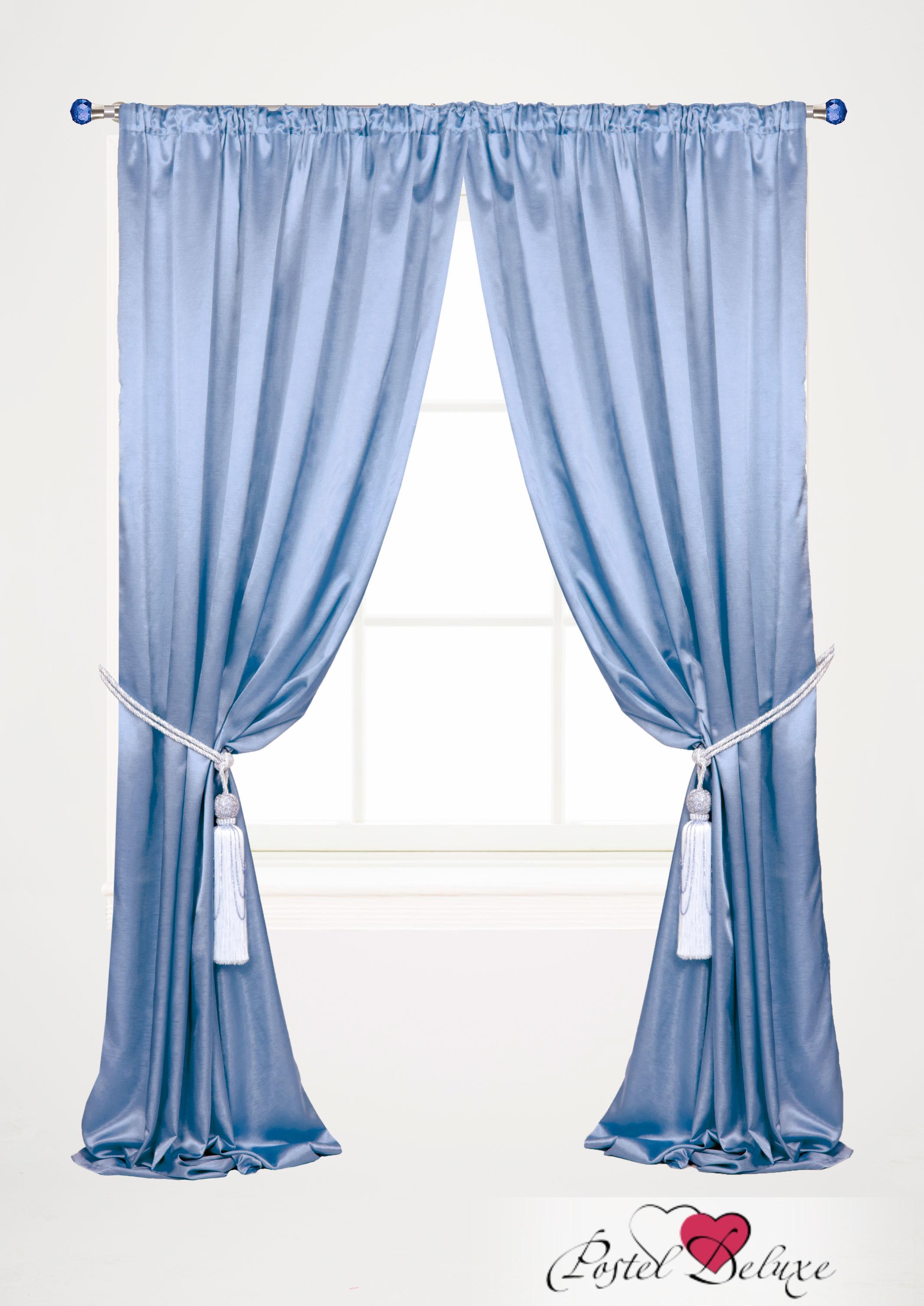 Купить Шторы Garden, Классические шторы Lysander Цвет: Голубой, Турция, Атлас