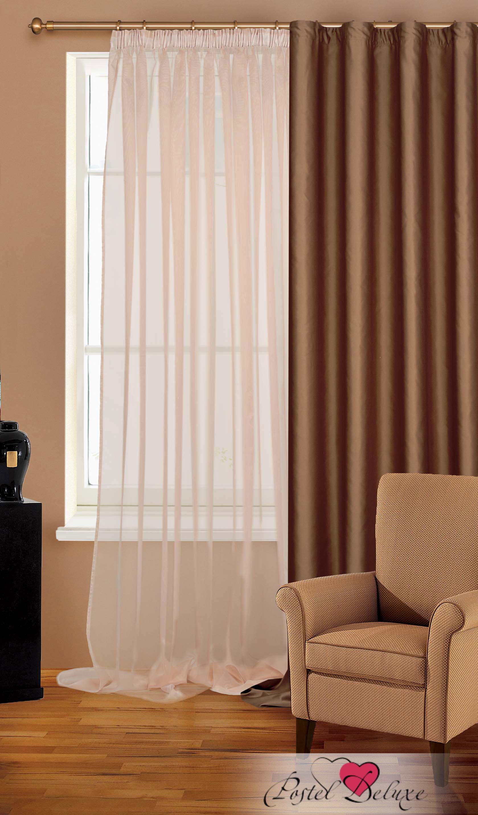 Купить Шторы Garden, Классические шторы Judith Цвет: Бежевый, Турция, Органза