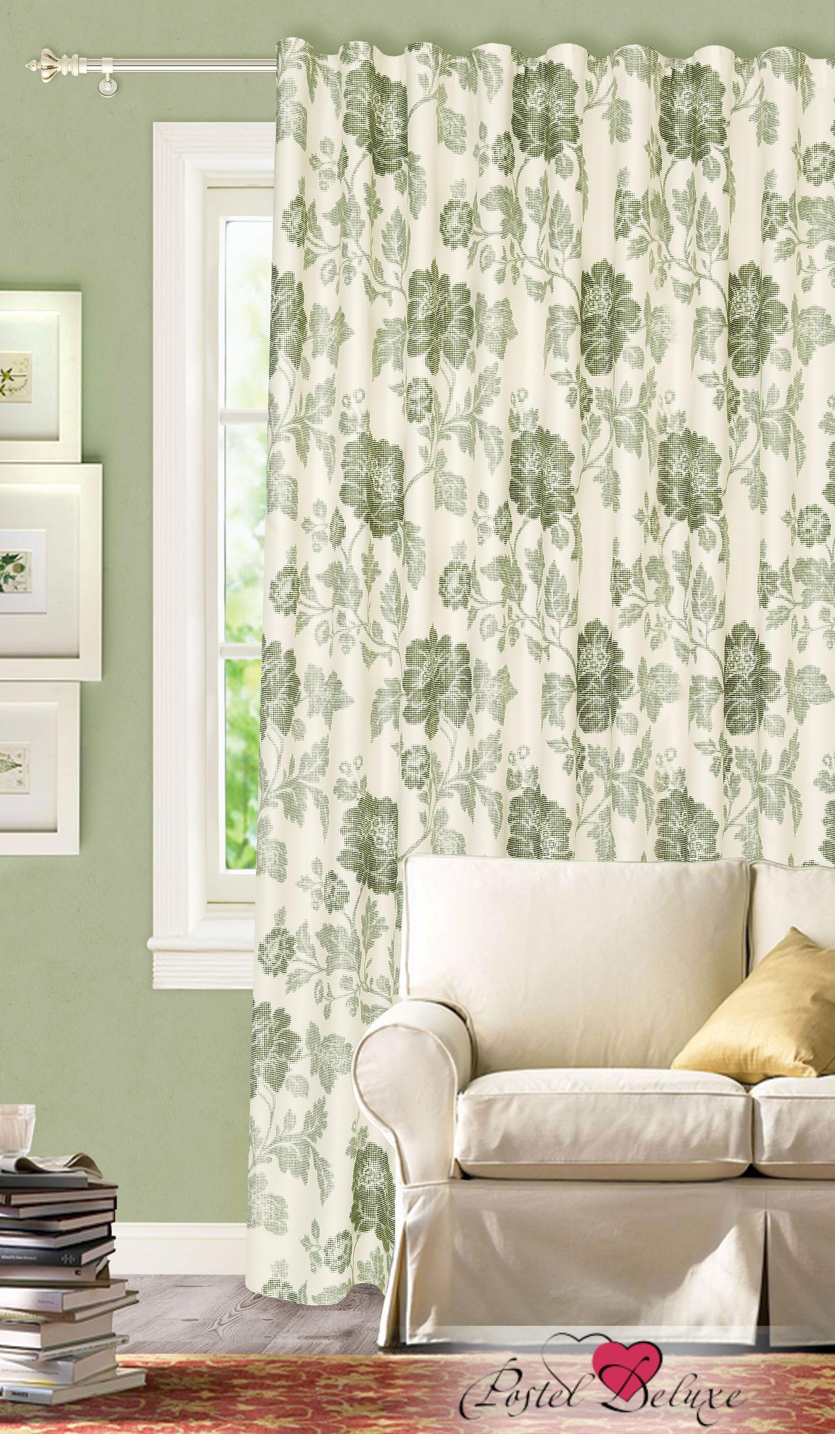 Купить Шторы Garden, Классические шторы Sheena Цвет: Зеленый, Турция, Портьерная ткань