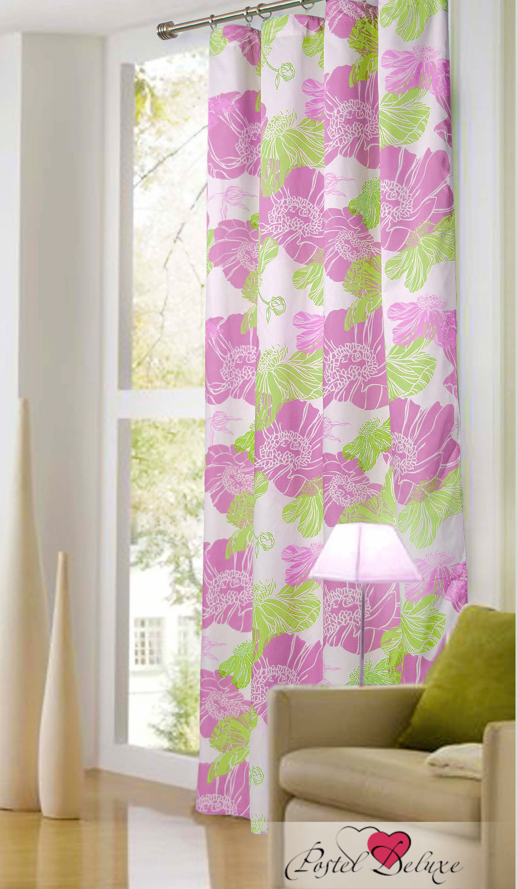Купить Шторы Garden, Классические шторы Adamina Цвет: Фуксия, Турция, Сиреневый, Сатен