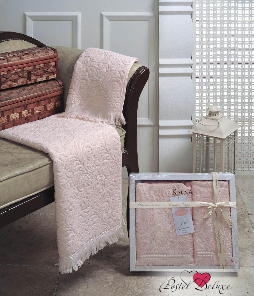 Купить Полотенца Karna, Полотенце Esra Цвет: Абрикосовый (Набор), Турция, Персиковый, Махра