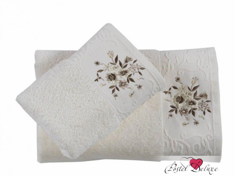 Купить Полотенца Karna, Полотенце Viola Цвет: Кремовый (Набор), Турция, Махра