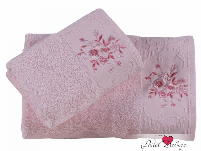 Полотенца Karna Полотенце Viola Цвет: Светло-Розовый (Набор)