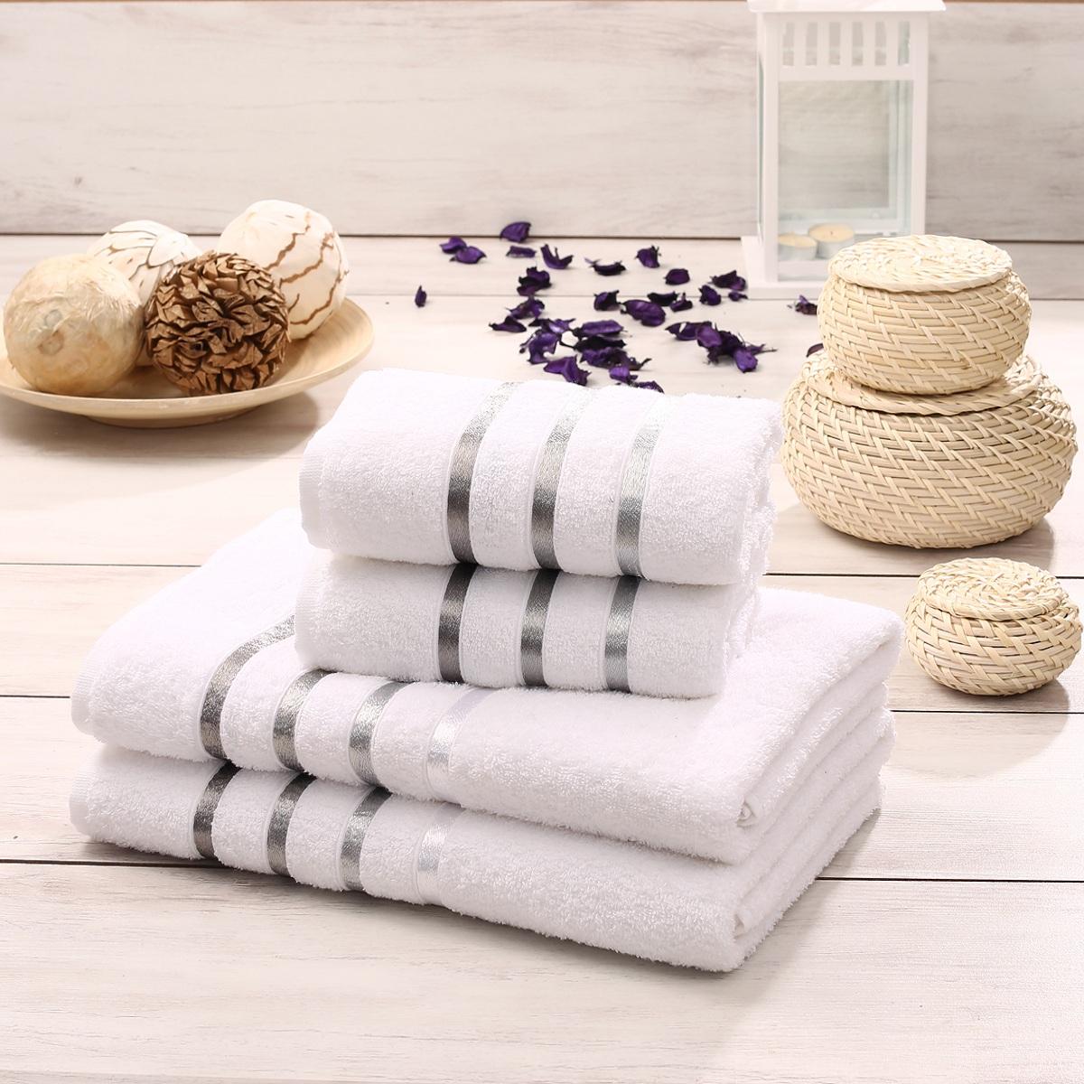 Купить Полотенца Karna, Полотенце Bale Цвет: Белый (Набор), Турция, Махра