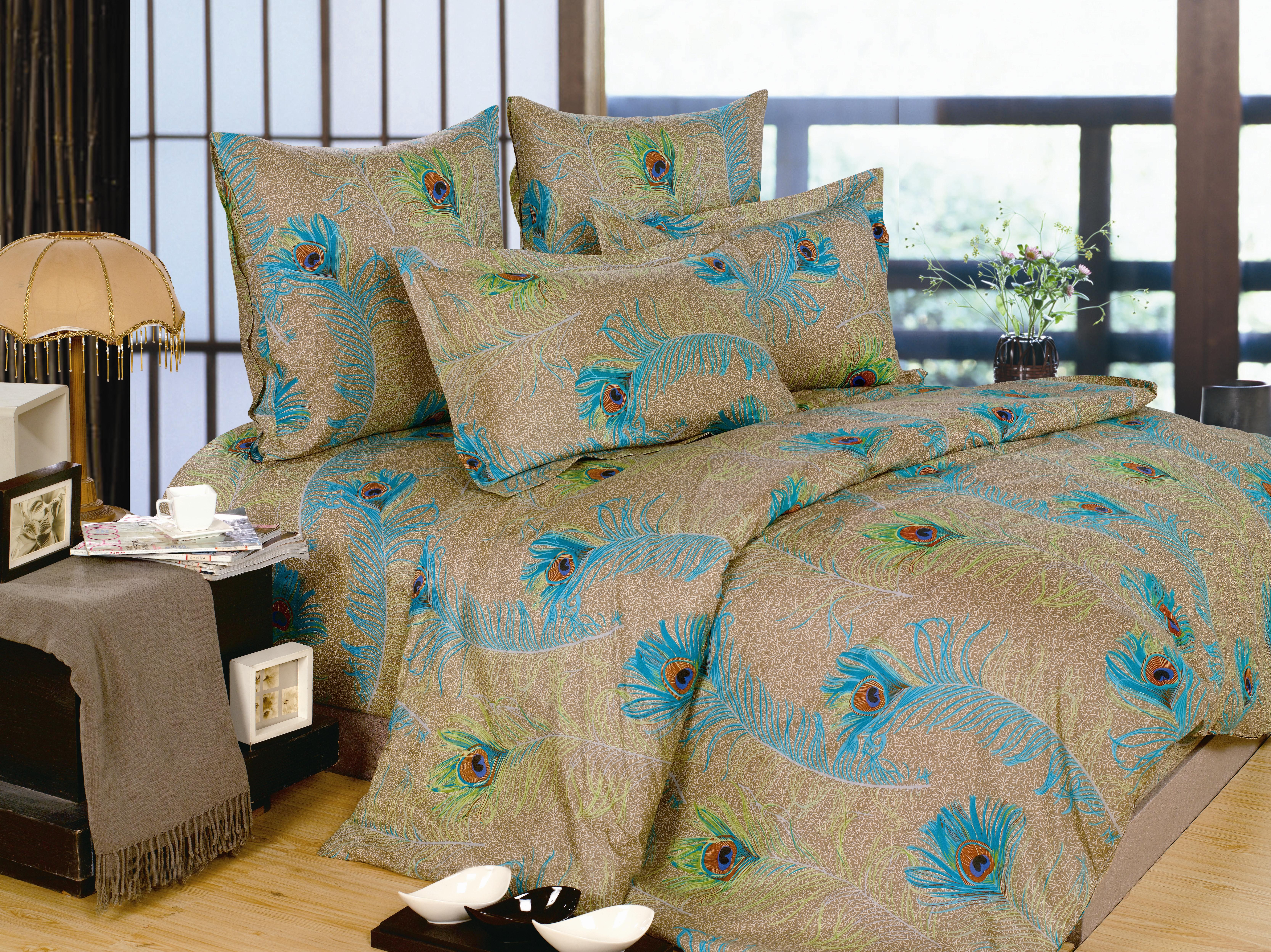 Купить Комплекты постельного белья СайлиД, Постельное белье Kayley А/s-144 (2 сп.), Китай, Бежевый, Поплин