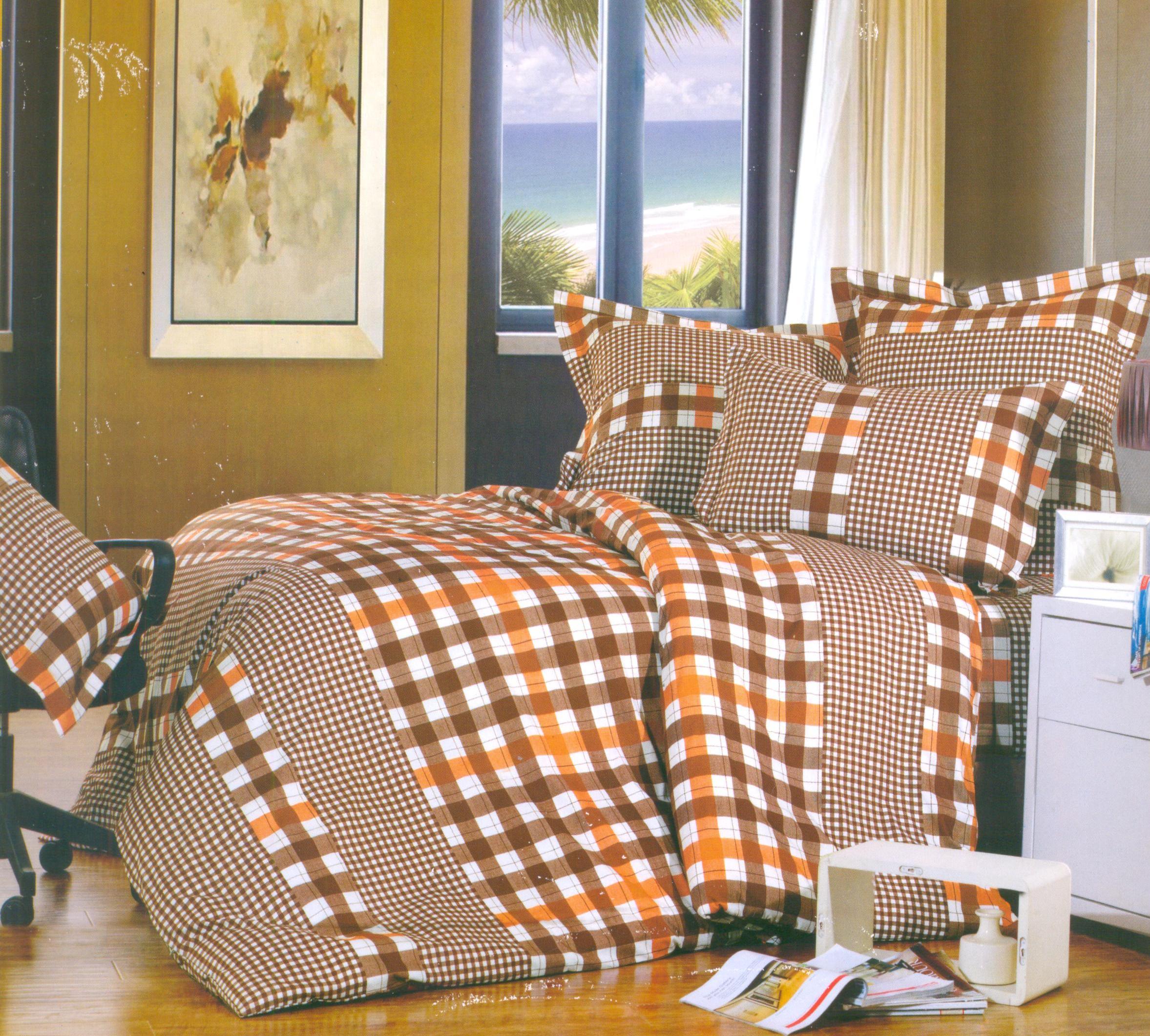 Купить Комплекты постельного белья СайлиД, Постельное белье Massimo A/s-154(1) (2 сп. евро), Китай, Бежевый, Коричневый, Кремовый, Поплин