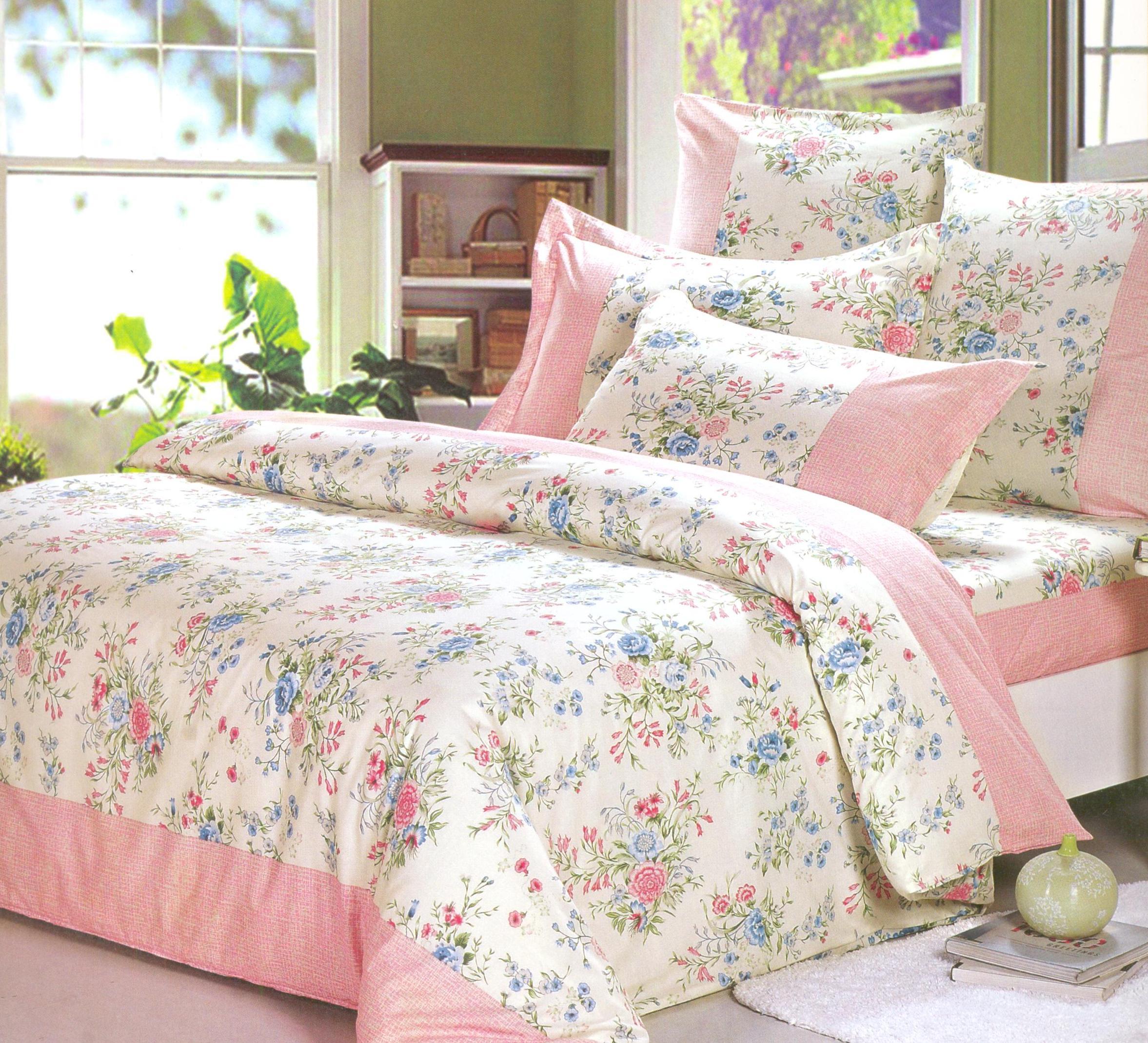 Купить Комплекты постельного белья СайлиД, Постельное белье Bezons А/s-158 (2 сп. евро), Китай, Розовый, Поплин