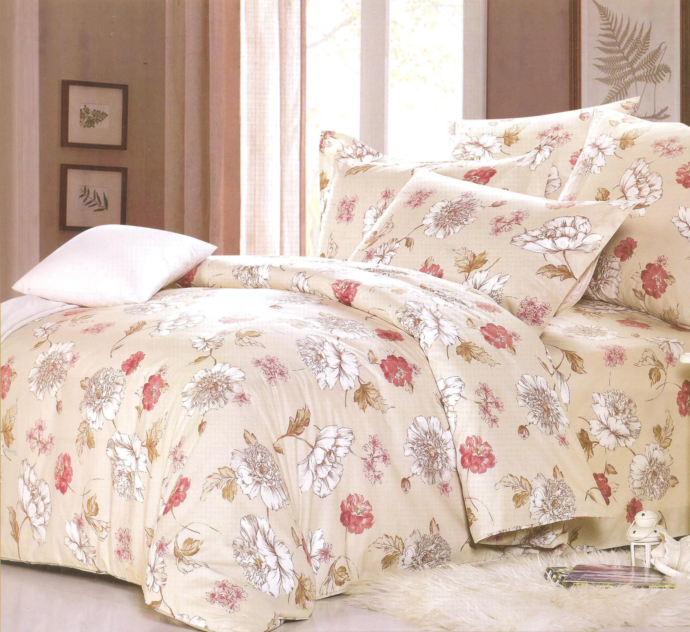 Купить Комплекты постельного белья СайлиД, Постельное белье Liana А/s-159 (2 сп. евро), Китай, Бежевый, Поплин