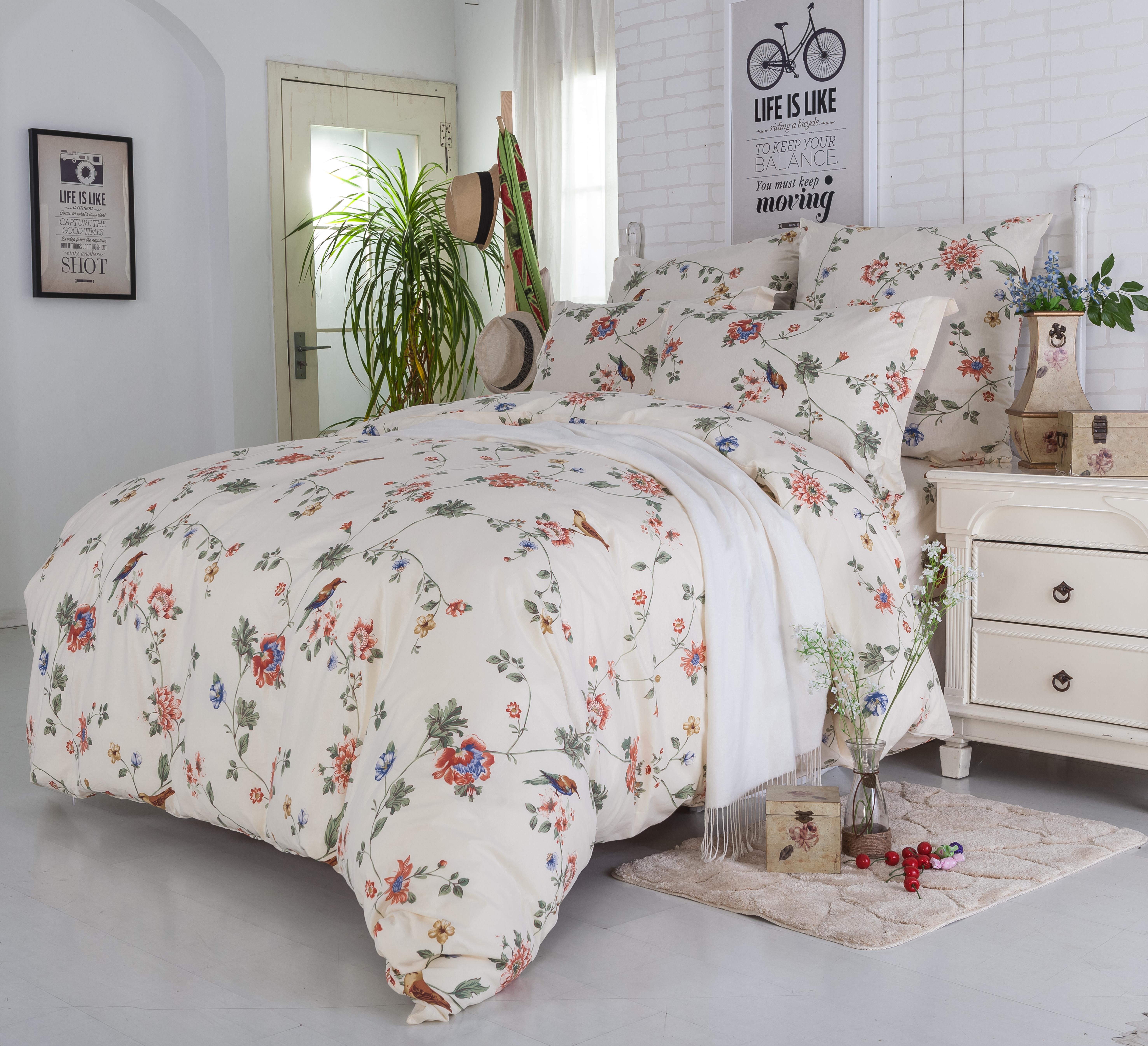 Купить Комплекты постельного белья СайлиД, Постельное бельеLidya A-178(2 сп. евро), Китай, Розовый, Поплин