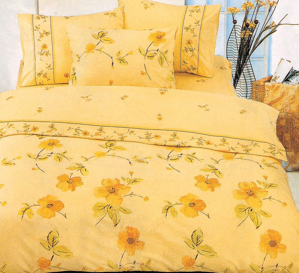 Купить Комплекты постельного белья СайлиД, Постельное белье Dolmia А/s-23 (сем.), Китай, Оранжевый, Поплин