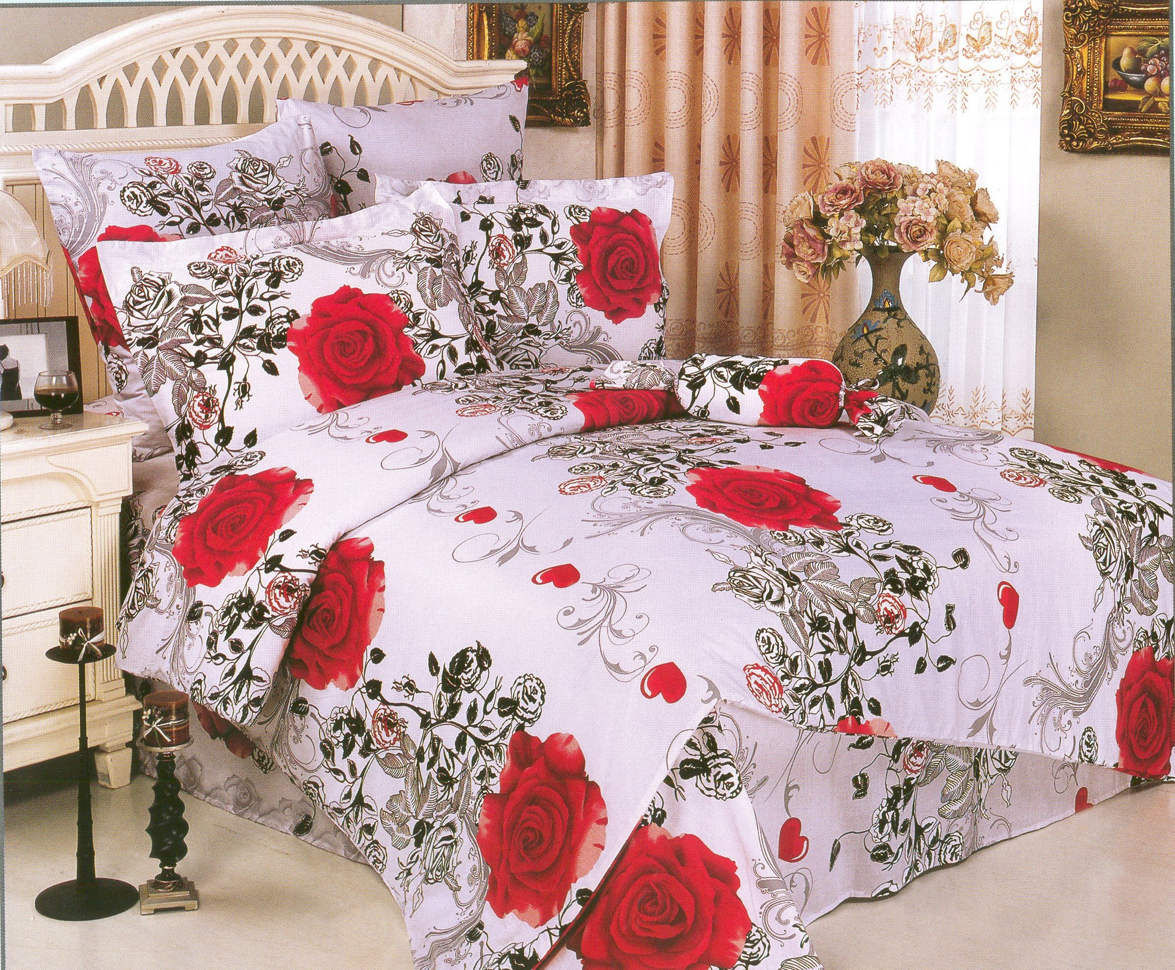 Купить Комплекты постельного белья СайлиД, Постельное белье Ruby А/s-75 (2 сп. евро), Китай, Белый, Красный, Сиреневый, Фиолетовый, Черный, Поплин