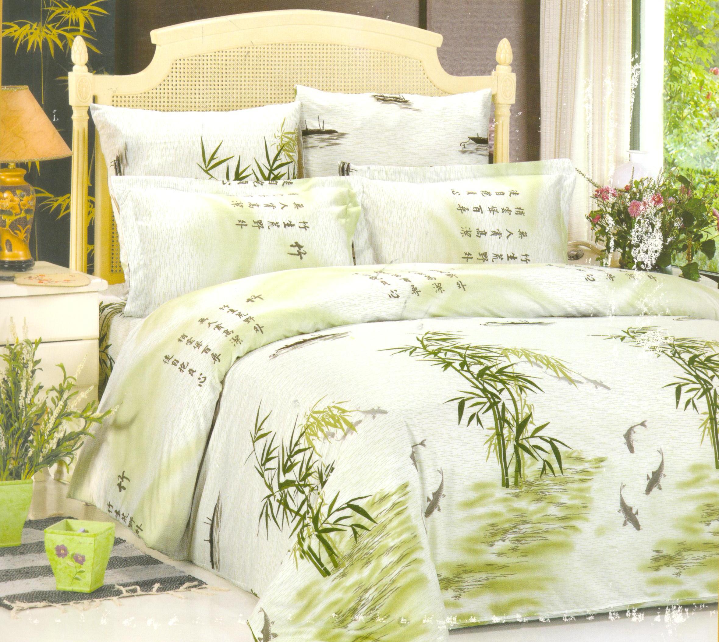 Купить Комплекты постельного белья СайлиД, Постельное белье Aimee А/s-96 (1, 5 сп.), Китай, Белый, Зеленый, Поплин