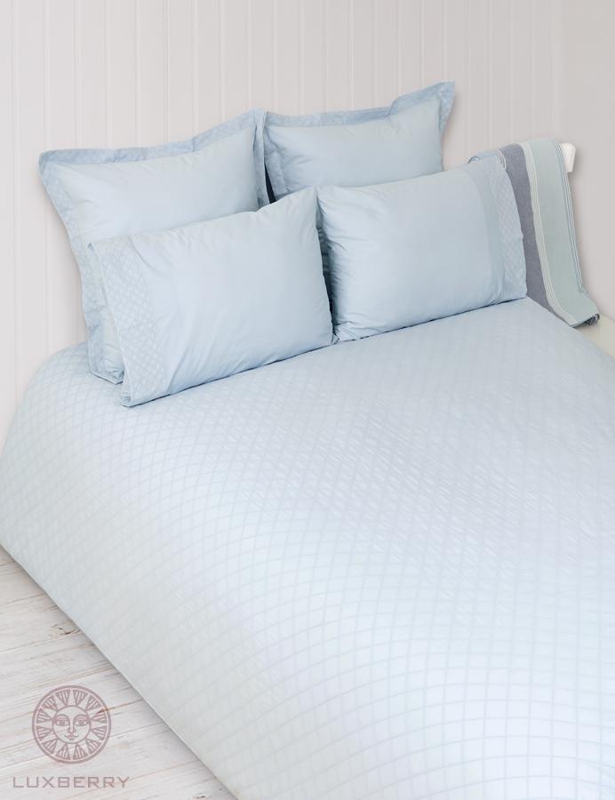 Купить Комплекты постельного белья BOVI, Постельное белье Plombir Цвет: Голубой (1, 5 спал.), Португалия, Перкаль
