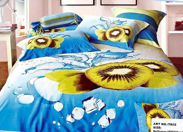 Купить Комплекты постельного белья Tango, Постельное бельеGladys(2 спал.), Китай, Голубой, Зеленый, Хлопковый сатин