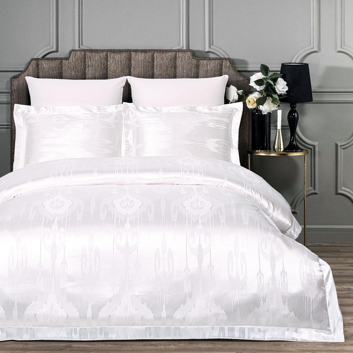 Купить Комплекты постельного белья Arya, Постельное белье Enya (2 сп. евро), Турция, Белый, Вискозный сатин