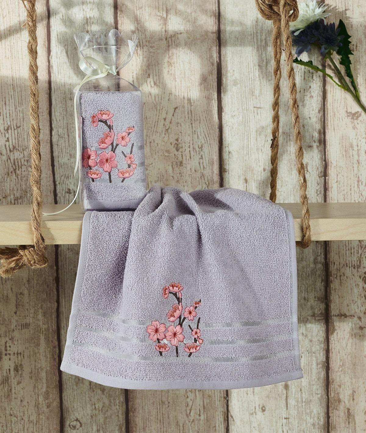Полотенца Karna Полотенце Rita Цвет: Серый (30х50 см)