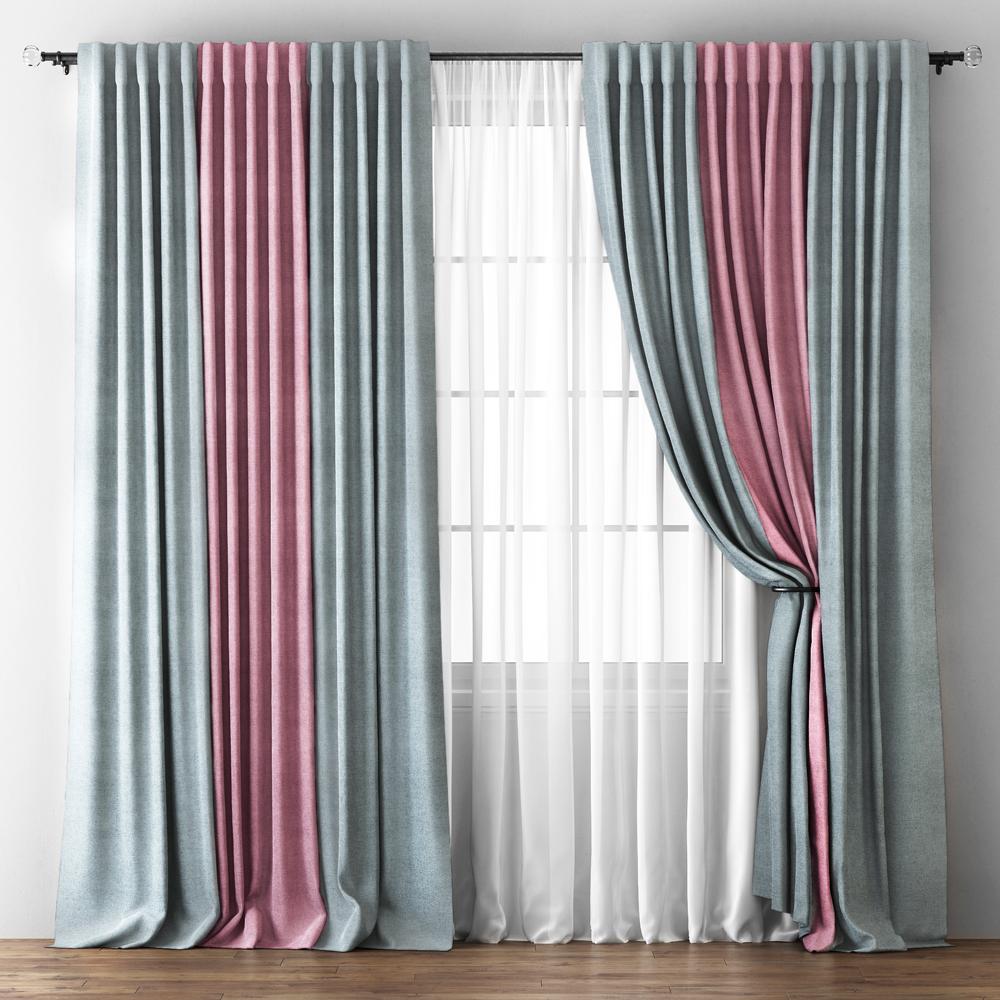 Купить Шторы PASIONARIA, Классические шторы Ambassador Цвет: Серо-Розовый, Россия, Портьерная ткань, Вуаль