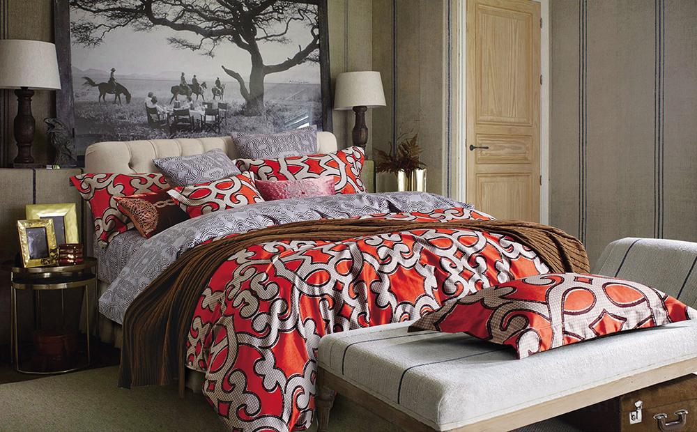 Купить Комплекты постельного белья Tango, Постельное белье Janele (1, 5 спал.), Китай, Красный, Серый, Хлопковый сатин