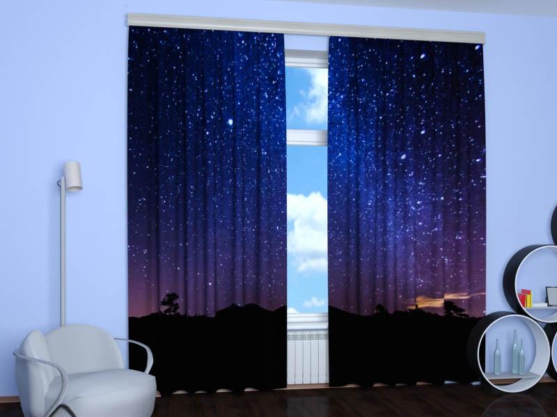 Шторы StickButik Фотошторы Ночное Звездное Небо